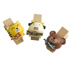 Blancho  - Wooden Clips / Wooden Clamps  - Naughty Animals-1