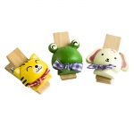 Blancho  - Wooden Clips / Wooden Clamps  - Naughty Animals-2