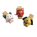 Blancho  - Wooden Clips / Wooden Clamps  - Naughty Animals-3