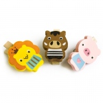 Blancho  - Wooden Clips / Wooden Clamps  - Smile Animals-A