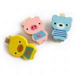 Blancho  - Wooden Clips / Wooden Clamps  - Smile Animals-B