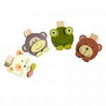 Blancho  - Wooden Clips / Wooden Clamps  - Sweet Animals