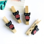 Blancho  - Wooden Clips / Wooden Clamps  - Black Cat
