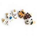 Blancho  - Wooden Clips / Wooden Clamps  - Sweet Family