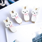 Blancho  - Wooden Clips / Wooden Clamps  - Smile Rabbit