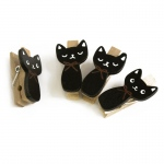 Blancho  - Wooden Clips / Wooden Clamps  - Naughty Cat