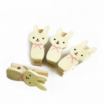 Blancho  - Wooden Clips / Wooden Clamps  - Sweet Rabbit