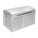 Badger Basket Hardwood Barrel Top Toy Chest: White