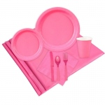 16 Guest Hot Pink Party Pack: Pink, Everyday, Unisex