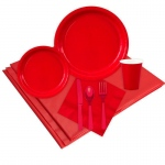 24 Guest Red Party Pack: Red, Everyday, Unisex