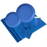 16 Guest Cobalt Party Pack: Blue, Everyday, Unisex
