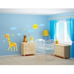 BuySeasons Giraffe Giant Wall Decal
