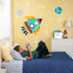BuySeasons Rocket Giant Wall Decal