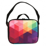 BuySeasons Rainbow Fractal Canvas Lunch Tote