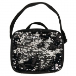 BuySeasons Black & Silver Sequin Lunch Tote