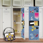 BuySeasons Denim Locker Decal & Emoji Patches