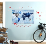 BuySeasons Denim Map Giant Wall Decal