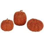 Caffco 3pc Orange Pumpkin Decor Set