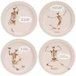 Skeleton Assorted Appetizer Plates (32): Halloween