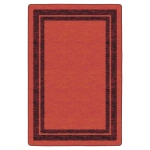 Flagship Carpets Double Border Red: 6' X 8'4