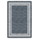 "Flagship Carpets Double Border Grey: 7'6"" X 12'"