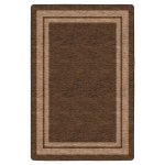 Flagship Carpets Double Border Chocolate: 6' X 8'4