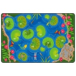 Flagship Carpets Hopscotch Pond: 6' X 9'