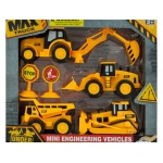 Mini Friction Construction Truck Set: assorted styles