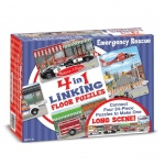 4 in 1 Linking Floor Puzzles - Emergency Rescue