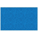 "Flagship Carpets Swirl Tone On Tone: 7'6"" x 12', Blue"