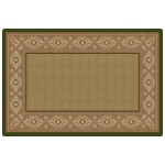 Flagship Carpets Ventana Weave: 4' x 6', Green