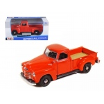 1950 Chevrolet 3100 Pick Up Truck Omaha Orange 1/25 Diecast Model by Maisto