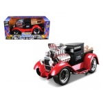 "1929 Ford Model A Matt Black/Red ""Muscle Machines"" 1/18 Diecast Model Car by Maisto"