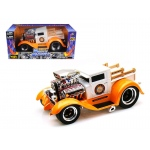 "1929 Ford Model A Orange/White ""Muscle Machines"" 1/18 Diecast Model Car by Maisto"