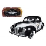 "1940 Ford Coupe Deluxe California Highway Patrol CHP ""Timeless Classics"" 1/18 Diecast Model Car by Motormax"