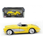 1958 Chevrolet Corvette Yellow 1/18 Diecast Car Model by Motormax