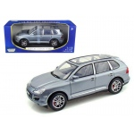 2008 Porsche Cayenne Turbo Silver 1/18 Diecast Model Car by Motormax
