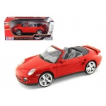 Porsche 911 (997) Turbo Convertible Red 1/18 Diecast Car Model by Motormax
