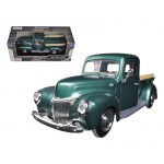 1940 Ford Pickup Truck Green 1/24 Diecast Model Car by Motormax