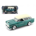 1955 Chevrolet Nomad Green 1/24 Diecast Model Car by Motormax