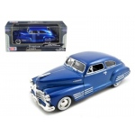 1948 Chevy Aerosedan Fleetline Blue 1/24 Diecast Model Car by Motormax