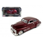 1948 Chevy Aerosedan Fleetline Metallic Dark Red 1/24 Diecast Model Car by Motormax