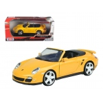 Porsche Carrera 911 997 Turbo Cabriolet Yellow 1/24 Diecast Model Car by Motormax