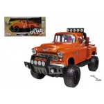 1955 Chevrolet 5100 Stepside Pickup Truck Off Road Orange 1/24 Diecast Model by Motormax