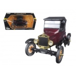 1925 Ford Model T Runabout Soft Top Burgundy 1/24 Diecast Model Car by Motormax