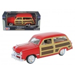 1949 Ford Woody Red 1/24 Diecast Model Car by Motormax
