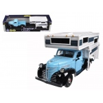 1941 Plymouth Pickup Truck Blue With Camper 1/24 Diecast Model by Motormax