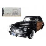 1946 Ford Sportsman Woody Black 1/18 Diecast Model Car by Road Signature