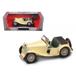 1947 MG TC Midget Yellow 1/18 Diecast Model Car by Road Signature