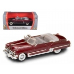 1949 Cadillac Coupe De Ville Metallic Red 1/43 Diecast Car by Road Signature